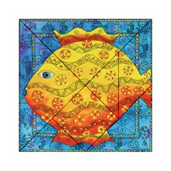 Patterned Fish Acrylic Tangram Puzzle (6  X 6 )