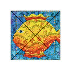 Patterned Fish Acrylic Tangram Puzzle (4  x 4 )