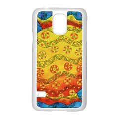 Patterned Fish Samsung Galaxy S5 Case (White)