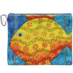 Patterned Fish Canvas Cosmetic Bag (xxxl)