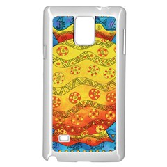 Patterned Fish Samsung Galaxy Note 4 Case (White)