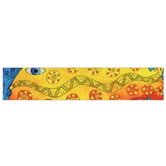 Patterned Fish Flano Scarf (Small)