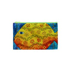 Patterned Fish Cosmetic Bag (XS)