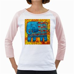 Patterned Elephant Girly Raglans