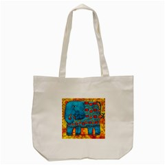 Patterned Elephant Tote Bag (cream)