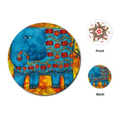 Patterned Elephant Playing Cards (Round)