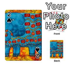 Patterned Elephant Playing Cards 54 Designs