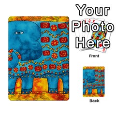 Patterned Elephant Multi Purpose Cards (rectangle)