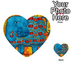 Patterned Elephant Multi-purpose Cards (Heart)