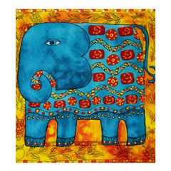 Patterned Elephant Shower Curtain 66  x 72  (Large)