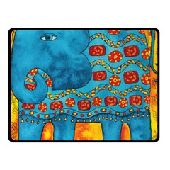 Patterned Elephant Fleece Blanket (Small)