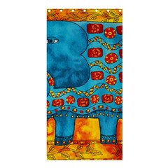 Patterned Elephant Shower Curtain 36  x 72  (Stall)