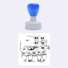 Patterned Elephant Rubber Round Stamps (medium)