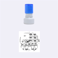 Patterned Elephant Rubber Round Stamps (Small)