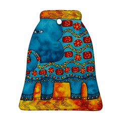 Patterned Elephant Bell Ornament (2 Sides)