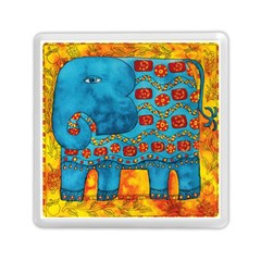 Patterned Elephant Memory Card Reader (Square)