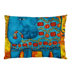 Patterned Elephant Pillow Cases (Two Sides)
