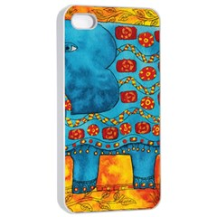 Patterned Elephant Apple iPhone 4/4s Seamless Case (White)
