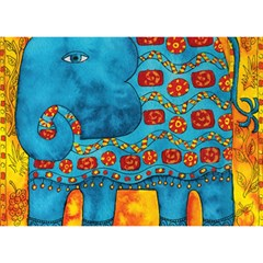 Patterned Elephant Birthday Cake 3d Greeting Card (7x5)