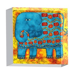 Patterned Elephant 5  x 5  Acrylic Photo Blocks