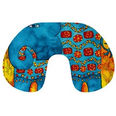 Patterned Elephant Travel Neck Pillows