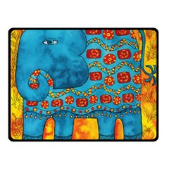 Patterned Elephant Double Sided Fleece Blanket (Small)