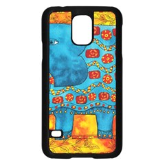 Patterned Elephant Samsung Galaxy S5 Case (black)