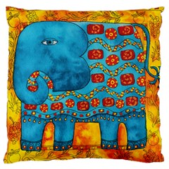 Patterned Elephant Large Flano Cushion Cases (One Side)