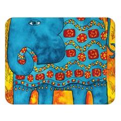 Patterned Elephant Double Sided Flano Blanket (Large)