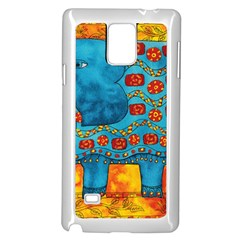 Patterned Elephant Samsung Galaxy Note 4 Case (White)