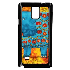 Patterned Elephant Samsung Galaxy Note 4 Case (Black)