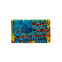 Patterned Elephant Cosmetic Bag (XS)