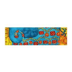 Patterned Elephant Satin Scarf (Oblong)