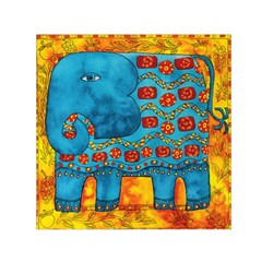 Patterned Elephant Small Satin Scarf (Square)