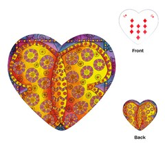 Patterned Butterfly Playing Cards (Heart)