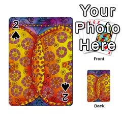 Patterned Butterfly Playing Cards 54 Designs