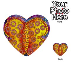 Patterned Butterfly Multi Purpose Cards (heart)