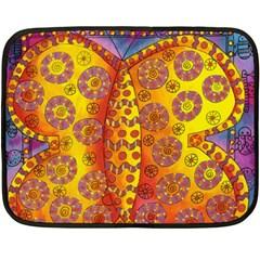 Patterned Butterfly Fleece Blanket (mini)