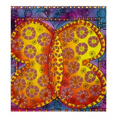 Patterned Butterfly Shower Curtain 66  x 72  (Large)