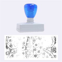 Patterned Butterfly Rubber Stamps (Large)