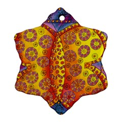 Patterned Butterfly Snowflake Ornament (2 Side)