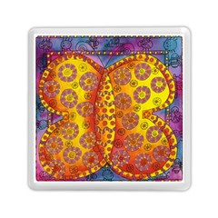 Patterned Butterfly Memory Card Reader (Square)