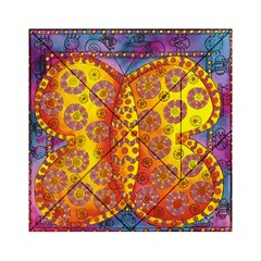Patterned Butterfly Acrylic Tangram Puzzle (6  x 6 )