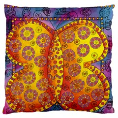 Patterned Butterfly Large Flano Cushion Cases (One Side)