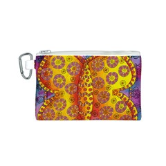 Patterned Butterfly Canvas Cosmetic Bag (S)