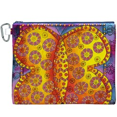 Patterned Butterfly Canvas Cosmetic Bag (XXXL)