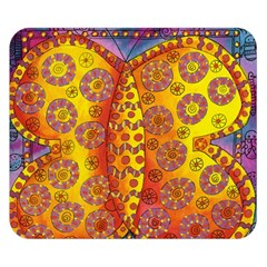 Patterned Butterfly Double Sided Flano Blanket (Small)