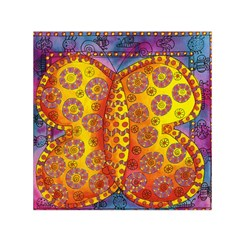 Patterned Butterfly Small Satin Scarf (Square)