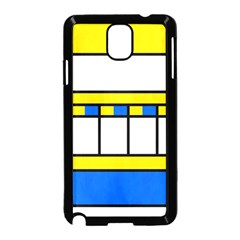 Stripes And Squares Samsung Galaxy Note 3 Neo Hardshell Case