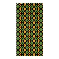 Green Yellow Rhombus Patternshower Curtain 36  X 72